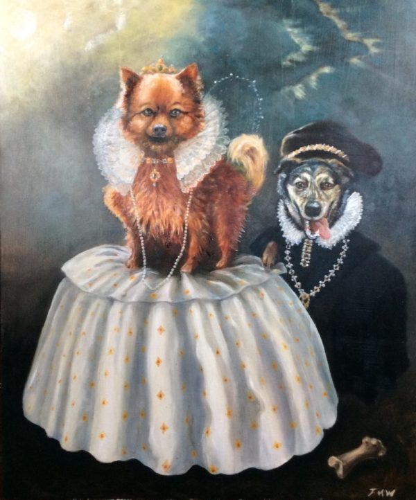Pomeranian dog portrait - Buffy the as Queen Elizabeth 1st