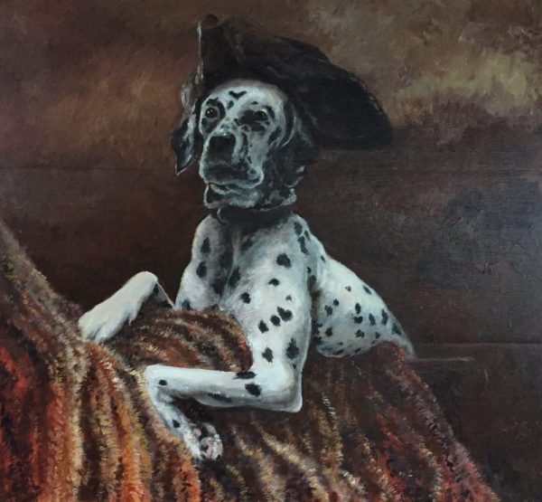 Dalmation Traditional dog portrait in oils