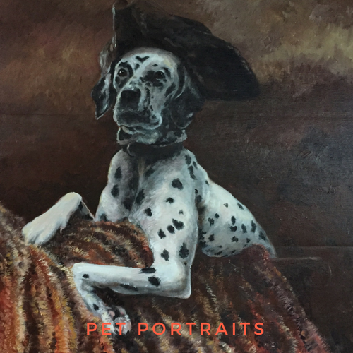 Traditional dog Portrait of a Dalmatian Pirate