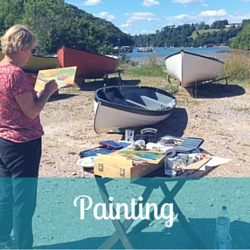 Painting workshops on the river Dart
