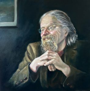 Original Painting by Francesca Wyllie of the Artist's father - the author Stephen Wyllie
